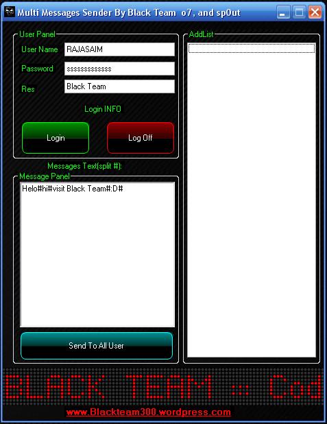 Black Team Multi MSG Sender S10
