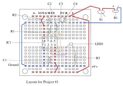 بالشرح والتحليل والتنفيذ : كتاب وموضوع : معا نبدأ تعلم الإلكترونيات من خلال تنفيذ المشاريع العملية . 716