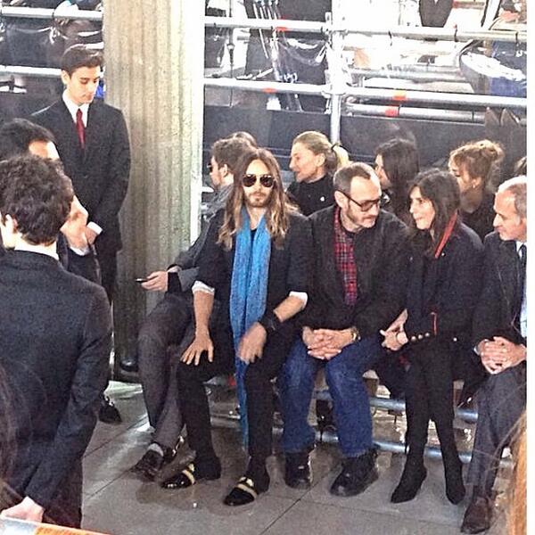 Jared Leto @ Fashion Week - Paris Bh97ki10