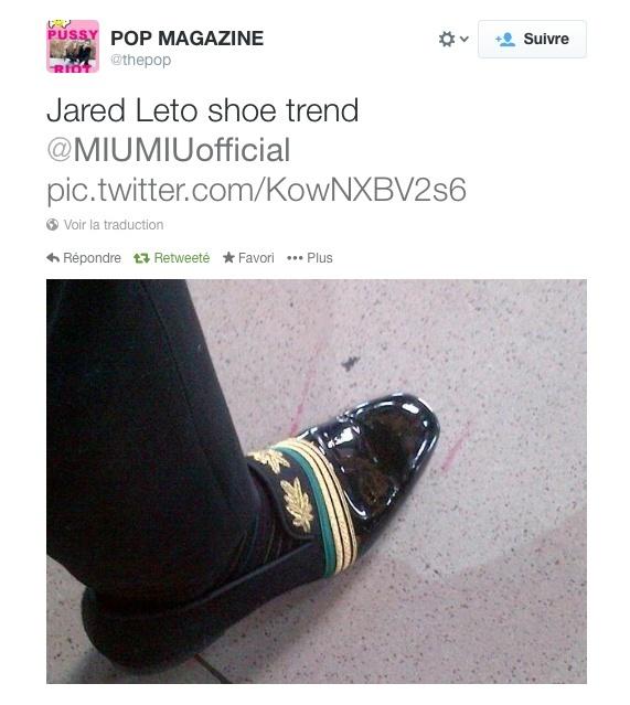 Jared Leto @ Fashion Week - Paris Captur10