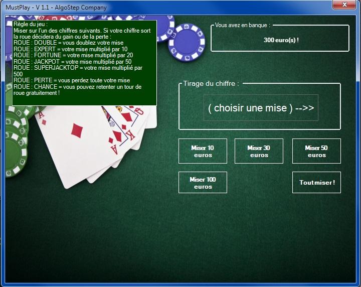 MustPlay - Jeu de casino double chance Mustpl12