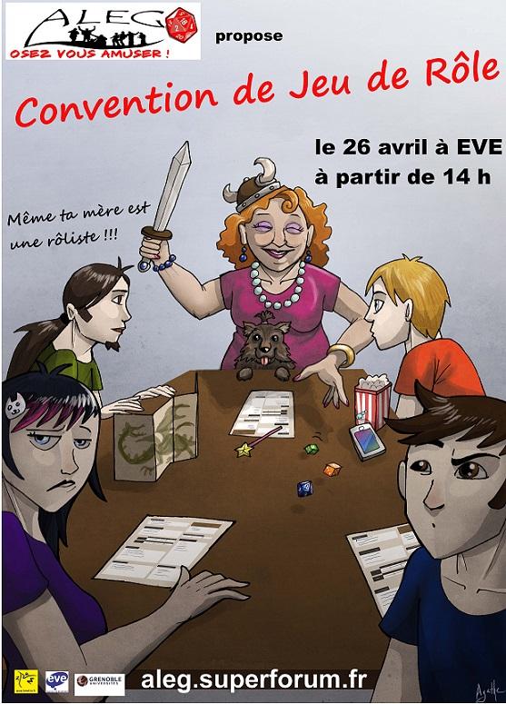 Convention de JDR par l'ALEG le 26 avril à 14h pour tous !!! Affich10
