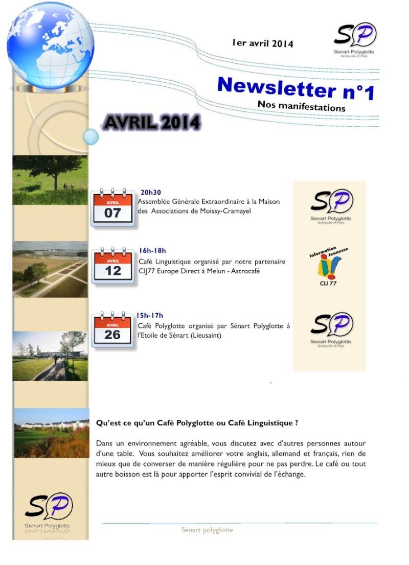 1ère Newsletter de Sénart Polyglotte - Avril 2014 Newsle12