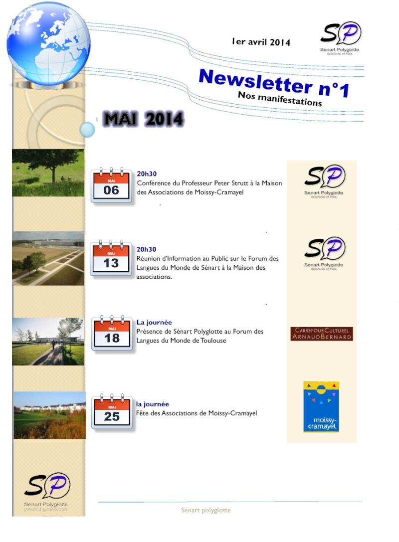 1ère Newsletter de Sénart Polyglotte - Avril 2014 Newsle13