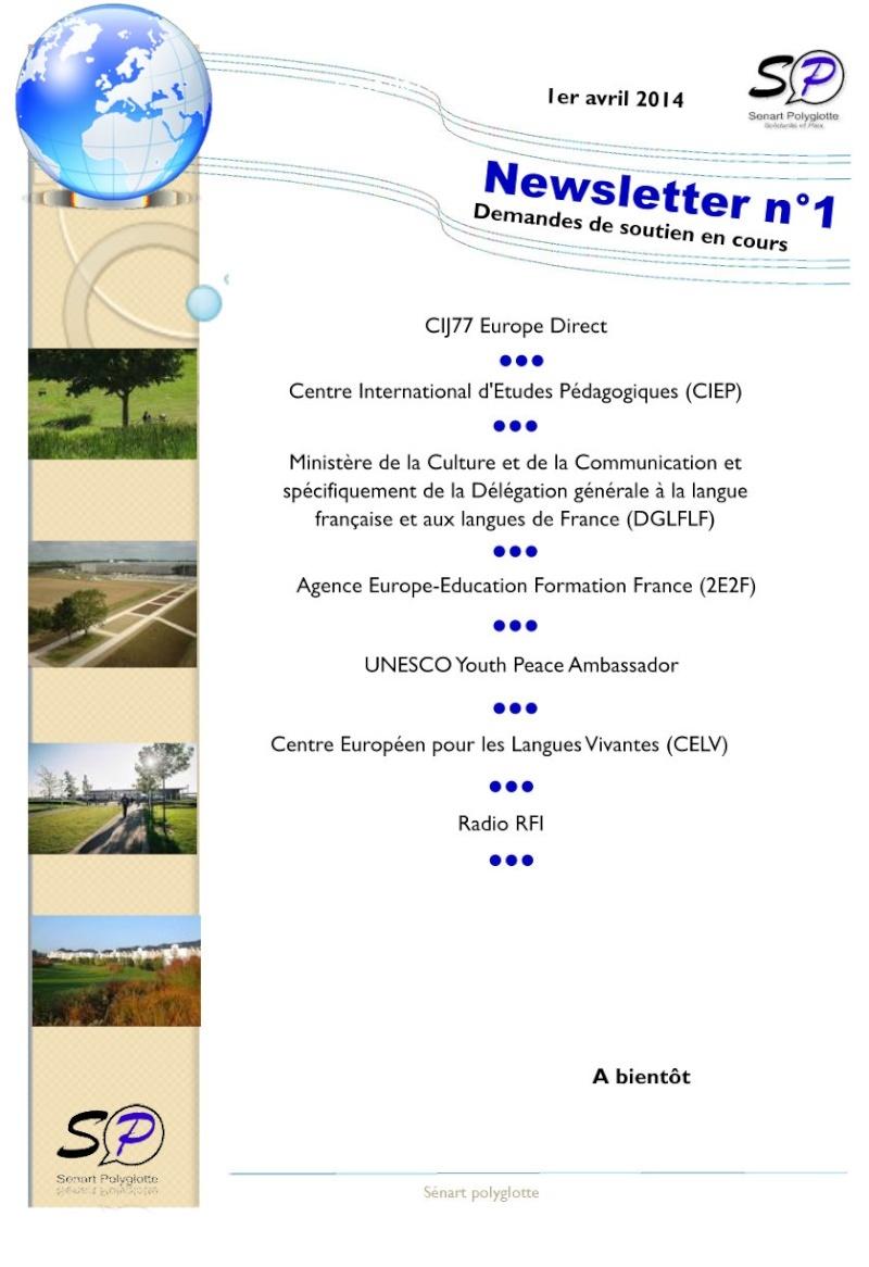 1ère Newsletter de Sénart Polyglotte - Avril 2014 Newsle16