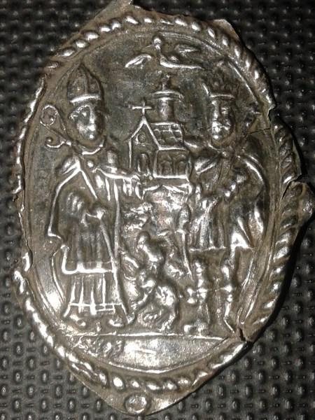Médaille de St-Ghislain - trouvée en Belgique - XVIIème 002_1611