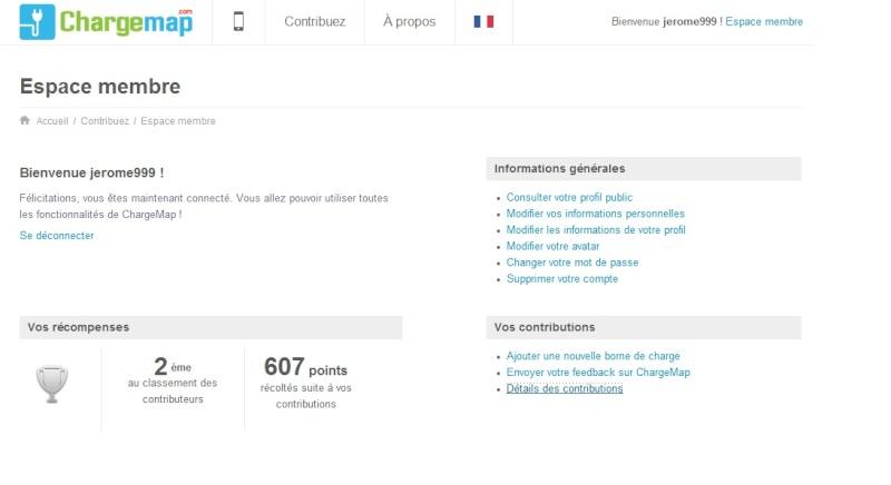 [ChargeMap] Classement contributeur Tototo10