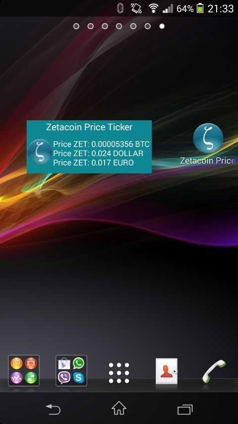 Zetacoin Android price ticker app Widg_s12
