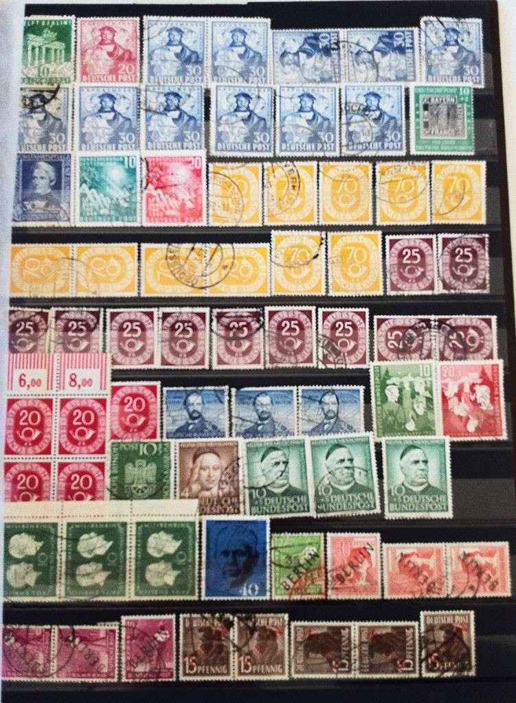 Kleine Sammlung deutscher Briefmarken abzugeben Img_1616