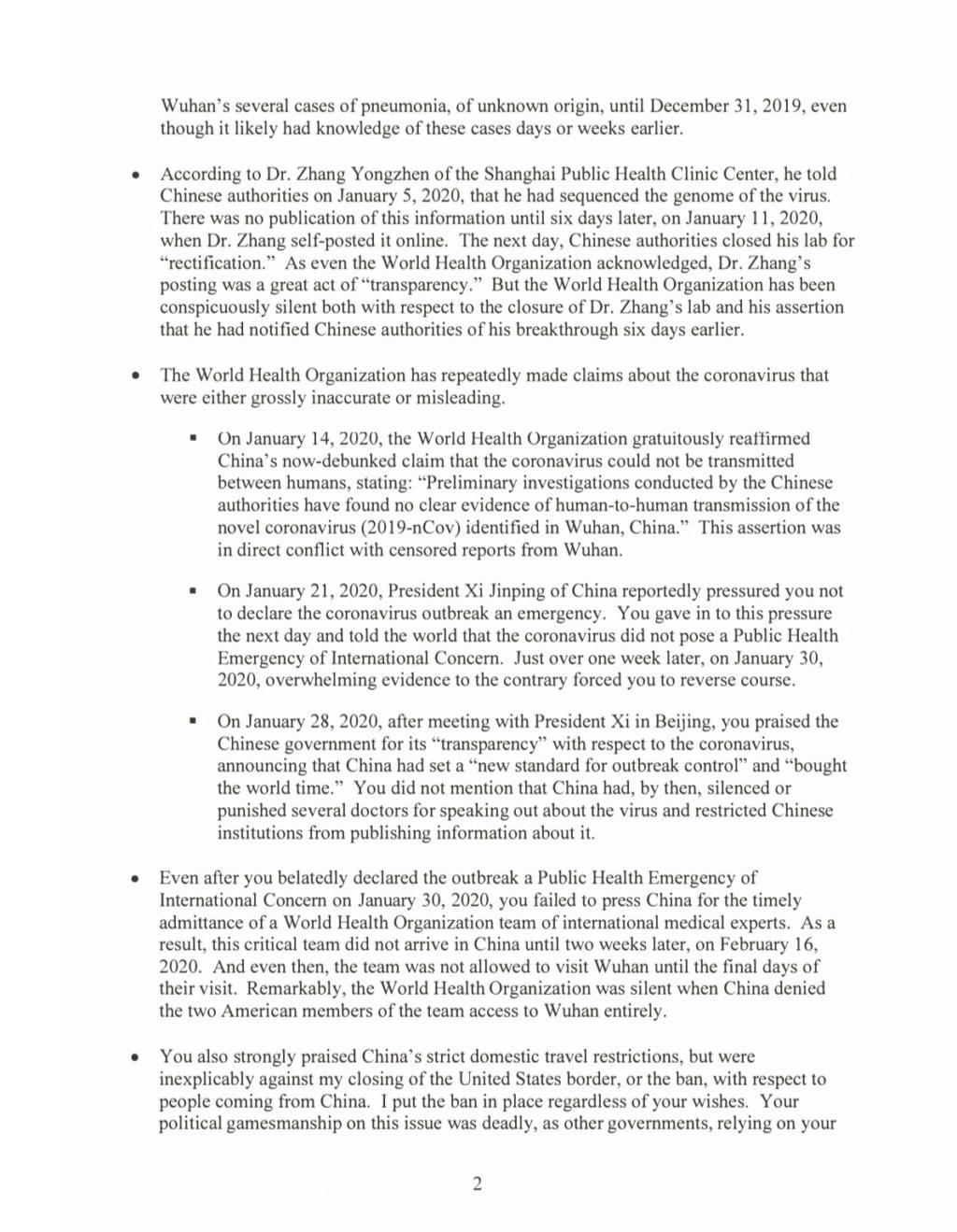 Trump dao rok od 30 dana WHO -u da se reorganizira i dokaže da nije pod kineskim utjecajem... Eywtnt11