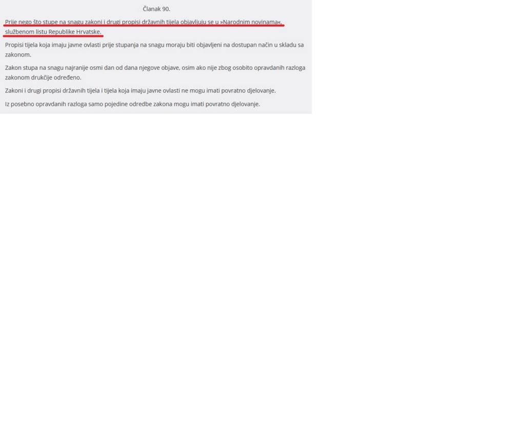 RH službeno nije proglasila epidemiju... Ustav10