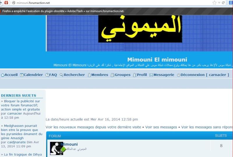 Bloquer la publicité sur votre forum forumactif; action simple et gratuite Mimoun10
