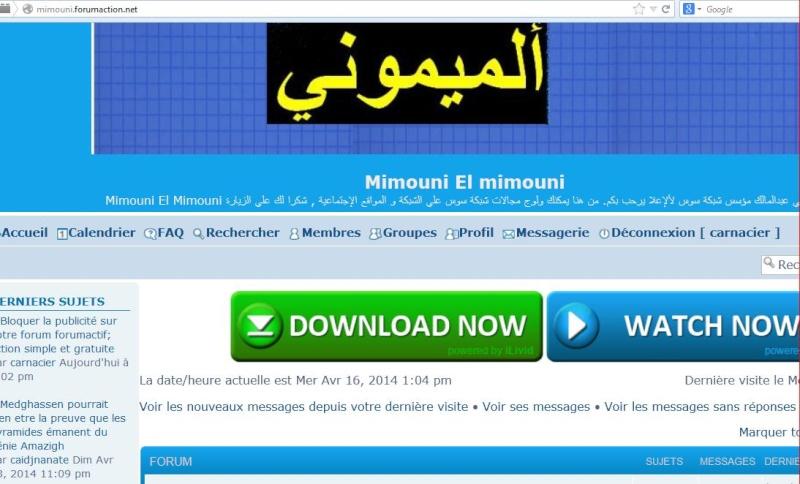 Bloquer la publicité sur votre forum forumactif; action simple et gratuite Mimoun11