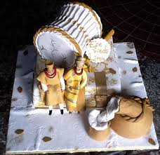 Top 12 Beautiful Nigerian Traditional Wedding Cakes Images23
