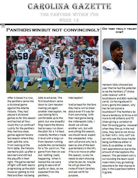 Panther Gazette - Edition 3 Caroli12