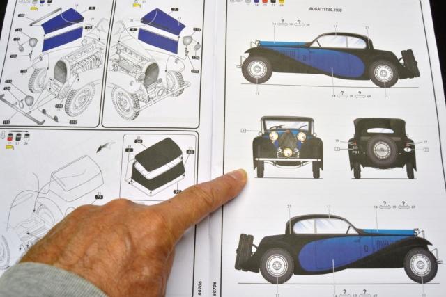 Ouvre boite Heller : Bugatti T50 au 1/24 03610