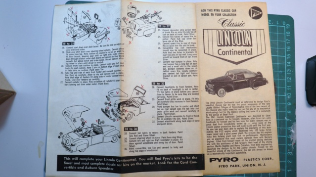 Comme Manu : défi montage: Lincoln Continental 48' de chez Pyro 06210