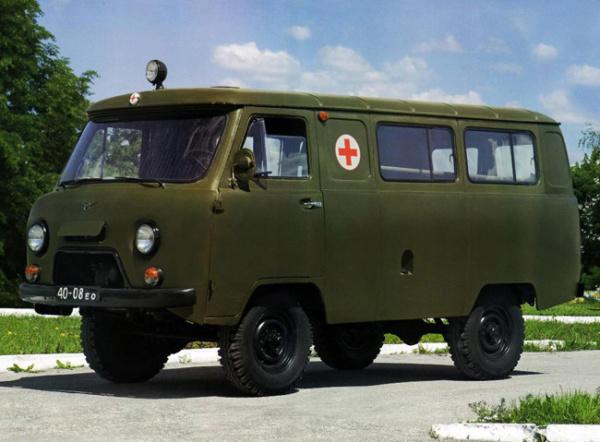 UAZ 452 Ambulance. 1/72 Balaton Modell. 0p11