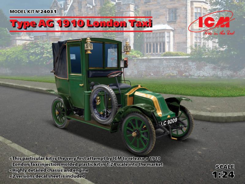 Renault Taxi de la Marne 1914  avec figurines (kits ICM 1/35) Icm24012
