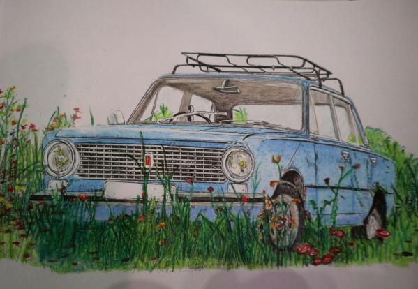 Carnet de dessins......Voitures russes Img_3184
