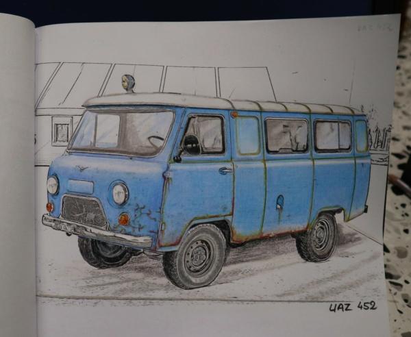 Carnet de dessins......Voitures russes Img_3215