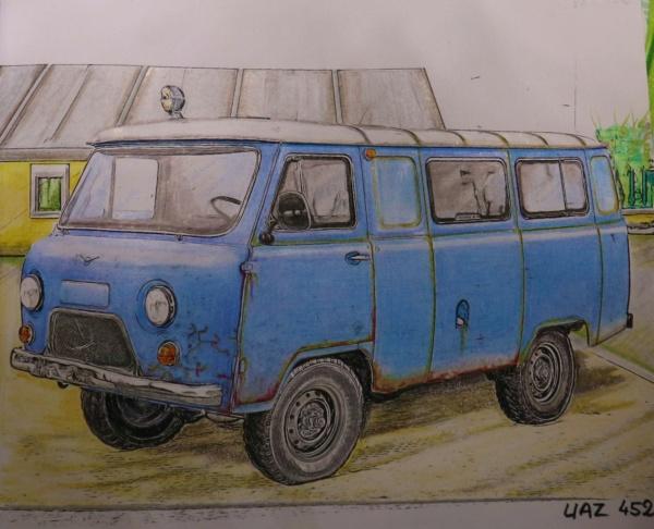 Carnet de dessins......Voitures russes - Page 2 Img_3224