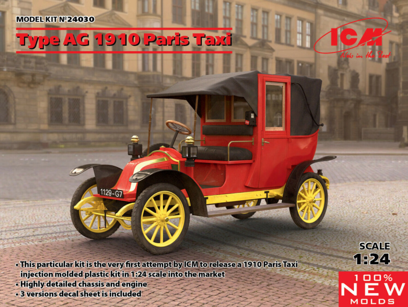 Renault Taxi de la Marne 1914  avec figurines (kits ICM 1/35) Iop10