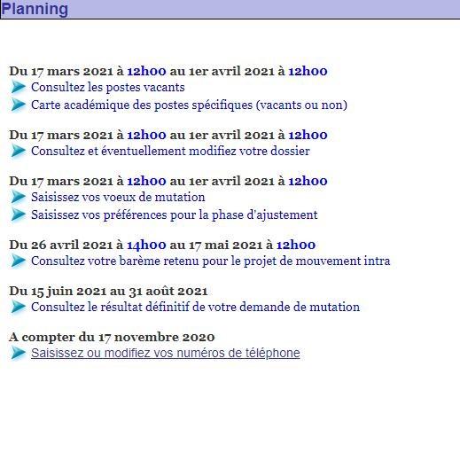 [Mutations intra 2021] académie de Rennes.  Planni11