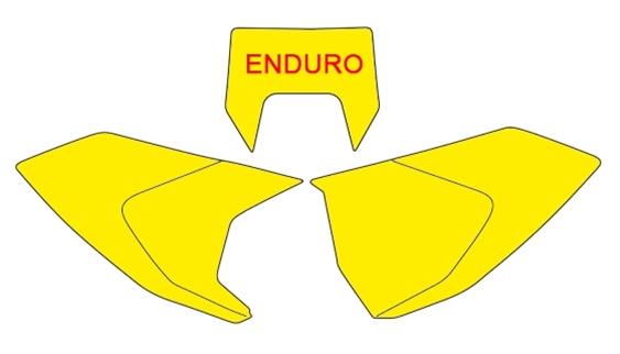 [ VENDU ]Kit plastique ACERBIS jaune fluo pour Husqvarna TE TEi à partir de 2017 I-autr10