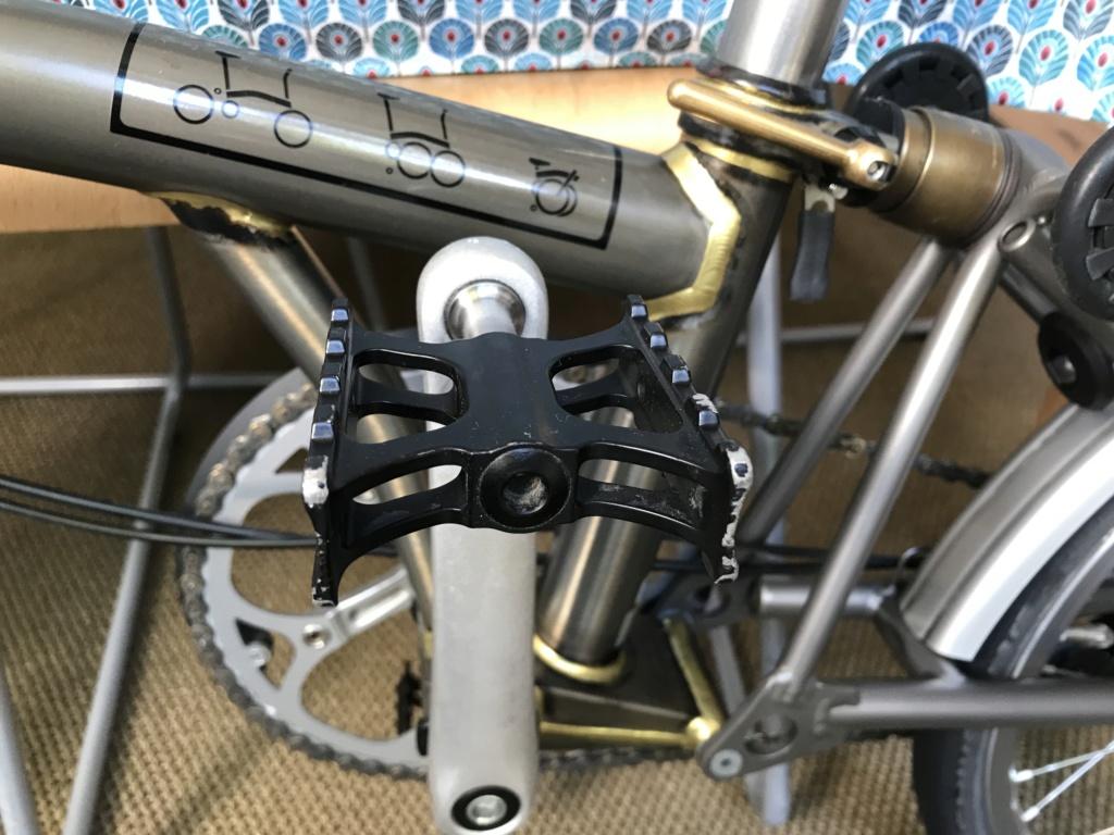 Brompton S2L-X raw lacquer amélioré Brompfication... ( le vélo, la saccoche, les pièces originales) ! (VENDU) Cimg_110