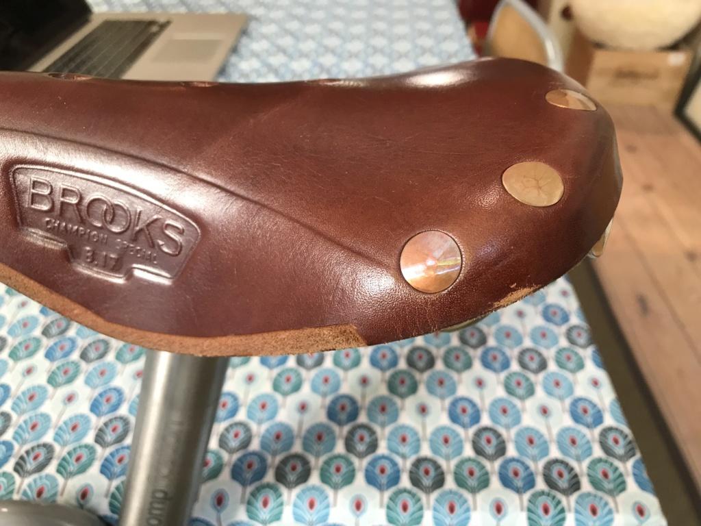 Brompton S2L-X raw lacquer amélioré Brompfication... ( le vélo, la saccoche, les pièces originales) ! (VENDU) Cimg_113