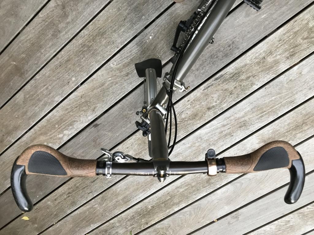 Brompton S2L-X raw lacquer amélioré Brompfication... ( le vélo, la saccoche, les pièces originales) ! (VENDU) Img_1115