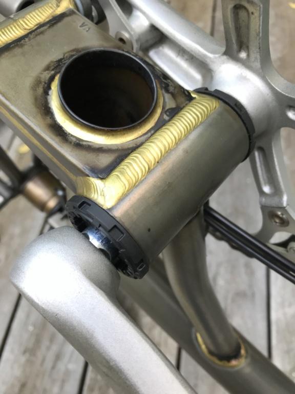 Brompton S2L-X raw lacquer amélioré Brompfication... ( le vélo, la saccoche, les pièces originales) ! (VENDU) Img_1612