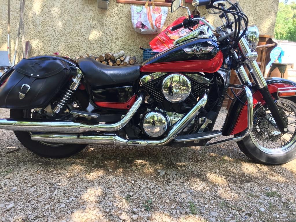 Selle cuir HomeMade sur Kawasaki VN 1500 Img_0825