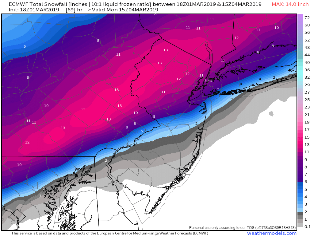 Sun/Monday March 3rd-4th 2019 Storm Euro_410