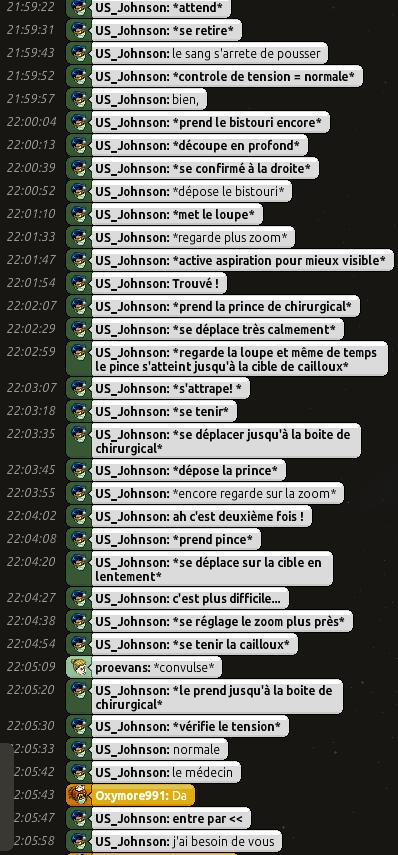 [C.H.U] Rapports d'actions RP de US_Johnson 0510