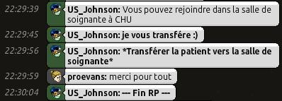 [C.H.U] Rapports d'actions RP de US_Johnson 1110