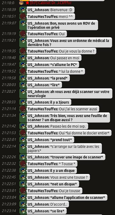 [C.H.U] Rapports d'actions RP de US_Johnson C0110