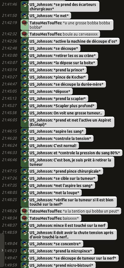 [C.H.U] Rapports d'actions RP de US_Johnson O0310