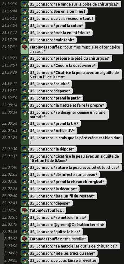 [C.H.U] Rapports d'actions RP de US_Johnson O0510