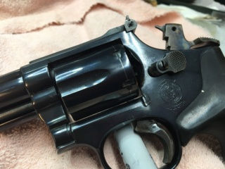 Sold Pending Funds - S&W Model 19-5, Target Hammer & Trigger, Hogue Grips $500 includes shipping  311