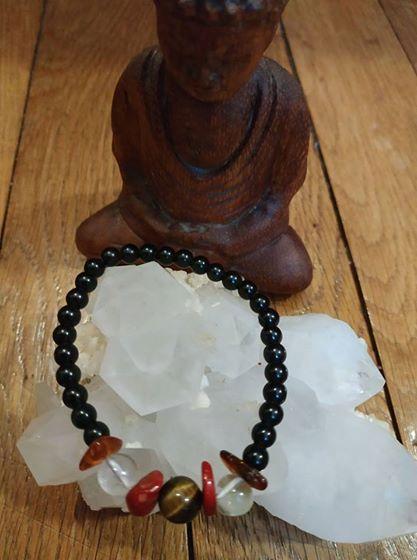 Création de bijoux en pierres. Obsidi15