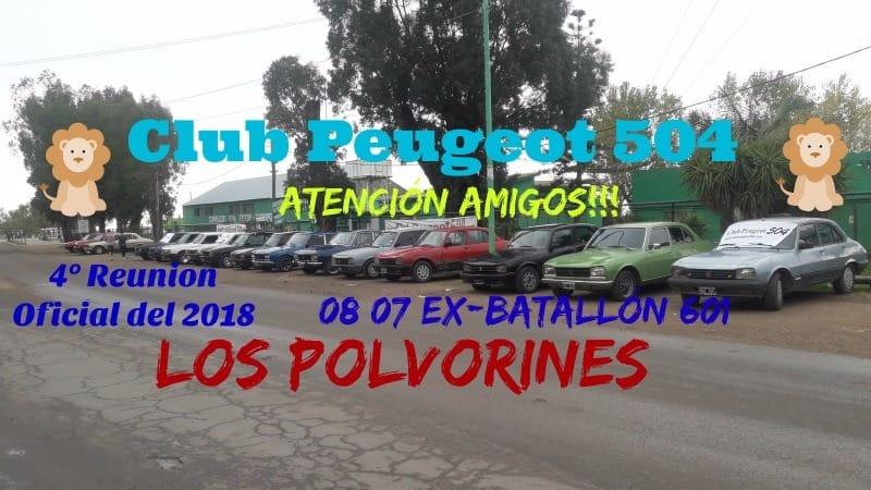 """4º Encuentro Oficial Club Peugeot 504 Argentina """"Los Polvorines"""" 36329111"""