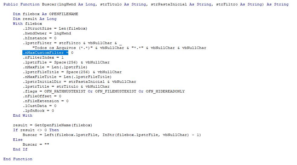 [Resolvido]Código não funciona Runtime 2013 64 Bits, nem no Microsoft Office 2013 64 Erro15