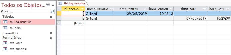 [Resolvido]Gravar usuário logado em um campo do formulario ou tabela Sem_t100