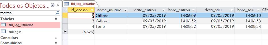 [Resolvido]Gravar usuário logado em um campo do formulario ou tabela Sem_t101