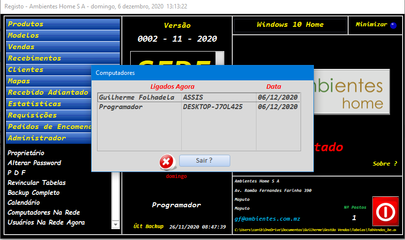 [Resolvido]Derrubar todos os usuários(sistema em rede dividido entre FE e BE) Sem_t165
