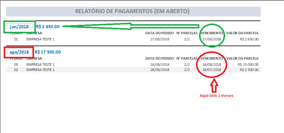[Resolvido]Configurar e ocultar pagamentos de parcelas em meu relatório Sem_ty13