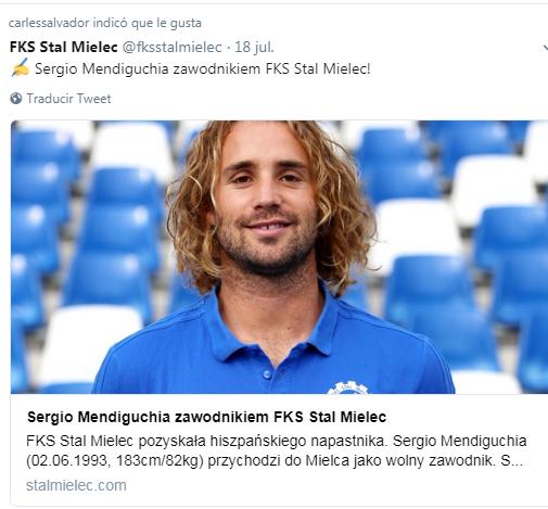 Sergio Mendiguchia zawodnikiem FKS Stal Mielec! Sin_tz11