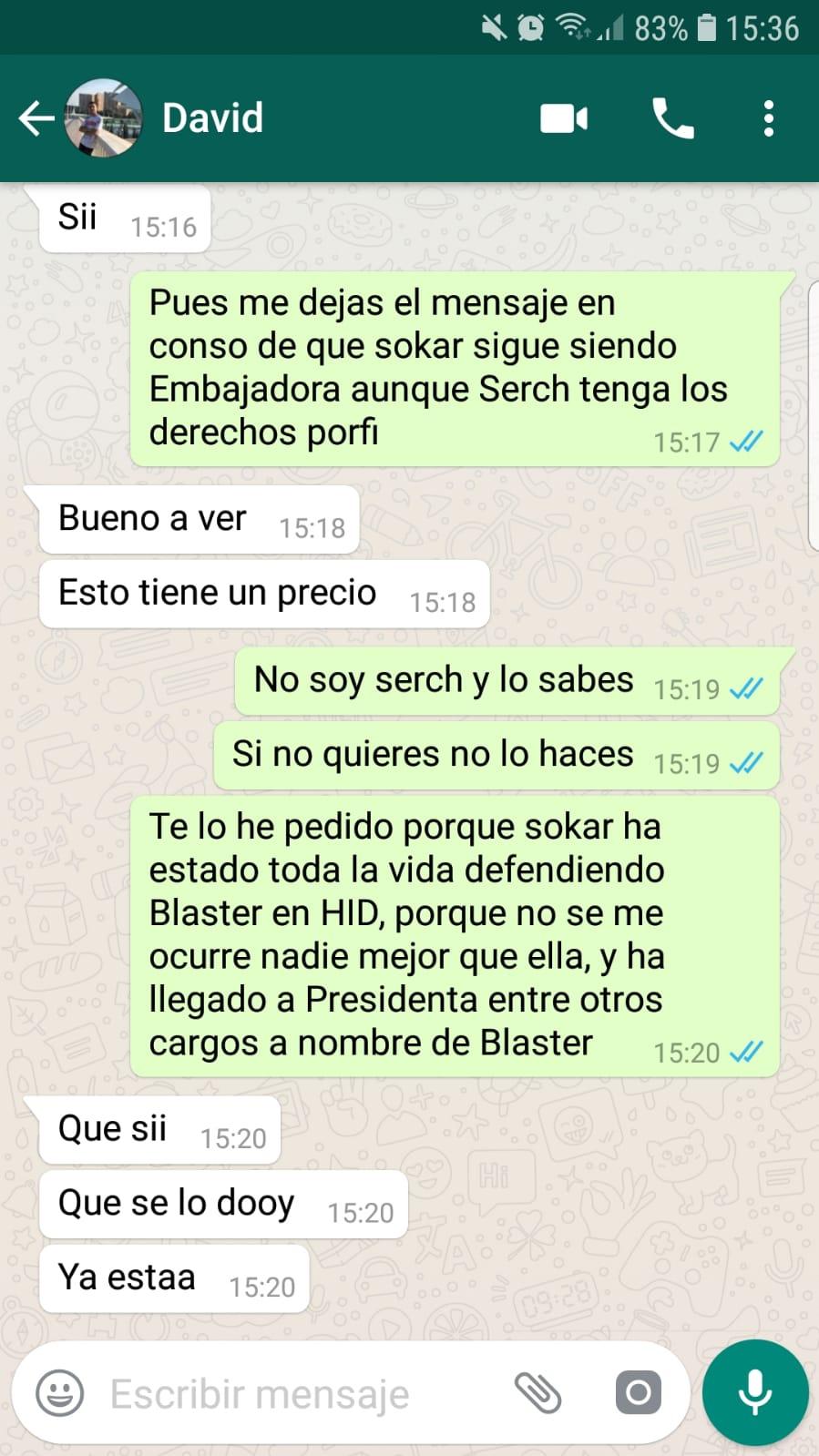 Derechos Blaster  Whatsa10